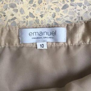 Emanuel Ungaro skirt beads designer beige 10
